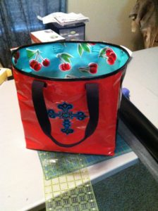 My very first oilcloth bag