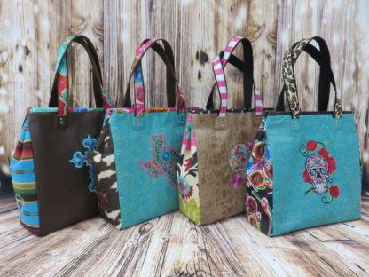 Mamacita Totes in VInyl and Oilcloth